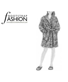 Custom-Fit Sewing Patterns - Short Hooded Robe