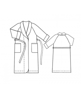 Custom-Fit Sewing Patterns - Double Pocket Bathrobe