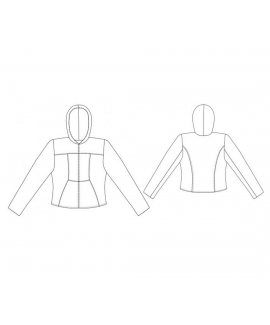Custom-Fit Sewing Patterns - Sporty Hooded Windbreaker