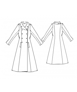 Custom-Fit Sewing Patterns - Double Breasted Princess Coat