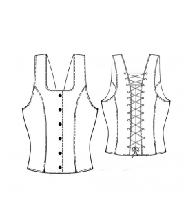 Custom-Fit Sewing Patterns - Lace Back Corset