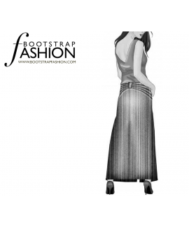 Custom-Fit Sewing Patterns - Back Butterfly Maxi