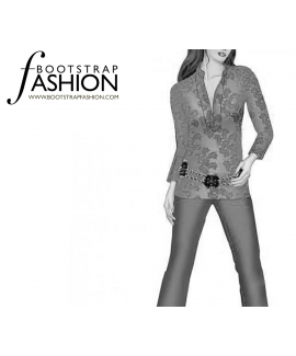 Custom-Fit Sewing Patterns - Contrast Neck Tinic