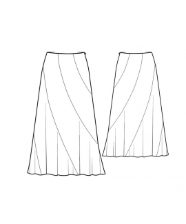 Custom-Fit Sewing Patterns - Sweeping Full Length Skirt