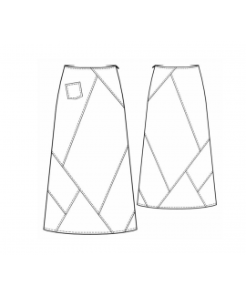Custom-Fit Sewing Patterns - Patchwork Long Skirt