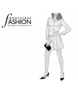 Custom-Fit Sewing Patterns - Pleats and Front Pocket Mini