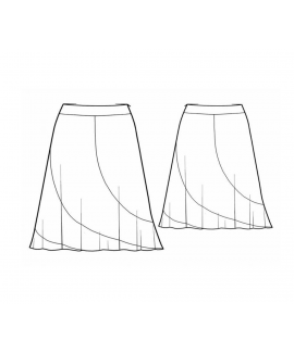 Custom-Fit Sewing Patterns - Side Swoop Flare Skirt