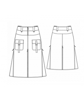 Custom-Fit Sewing Patterns - Front Patch Pocket A-Line Skirt