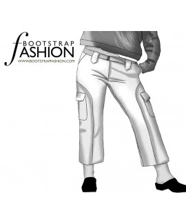 Custom-Fit Sewing Patterns - Cropped Cargo Pants