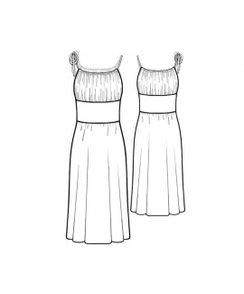 Custom-Fit Sewing Patterns - Ruched Bodice Fit-and-Flare Dress