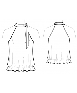 Custom-Fit Sewing Patterns - Halter Style Blouson Top