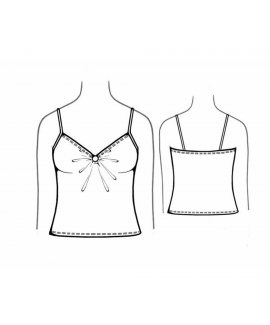 Custom-Fit Sewing Patterns - Bust Gathered Tank