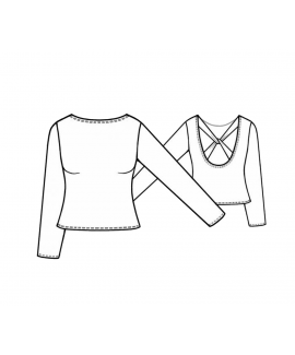 Custom-Fit Sewing Patterns - Cross Back Boat Neck Top