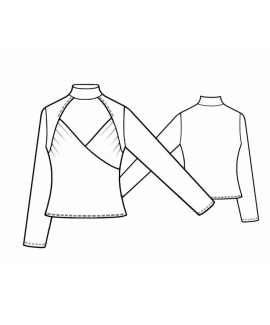 Custom-Fit Sewing Patterns - Turtle Neck Chest Cut Out Top