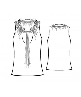 Custom-Fit Sewing Patterns - Sleeveless Shirred-Neck Blouse