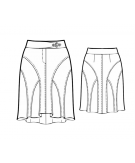 Custom-Fit Sewing Patterns - Flying Buttress Paneled Skirt