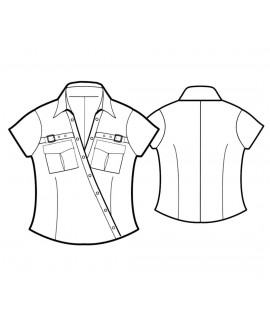 Custom-Fit Sewing Patterns - Cropped Surplice Neck Camp Shirt