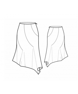 Custom-Fit Sewing Patterns - Asymmetrical Point Skirt