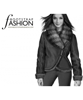 Custom-Fit Sewing Patterns - Thick Fur Collar Wrap Coat