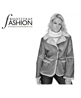 Custom-Fit Sewing Patterns - Warm Sheepskin Coat