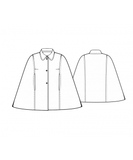 Custom-Fit Sewing Patterns - Cape Coat with Shirt Collar