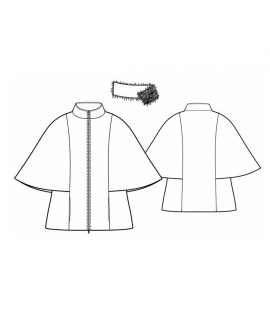 Custom-Fit Sewing Patterns - Detachable Collar Batwing Cape