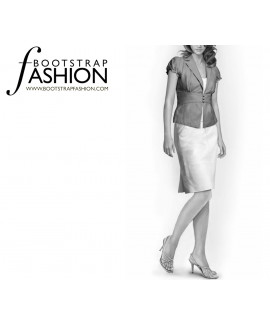 Custom-Fit Sewing Patterns - Back Flap Pencil Skirt