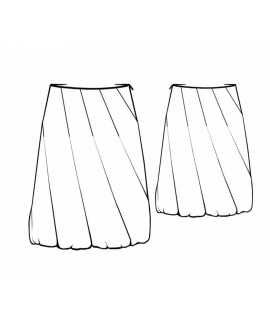 Custom-Fit Sewing Patterns - A-line Vertical Twist Panel Skirt