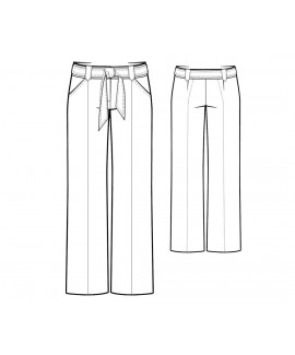 Custom-Fit Sewing Patterns - Straight Leg Tie Waistband Trousers