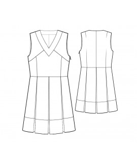Custom-Fit Sewing Patterns - V-Neck Tunic with Pleats