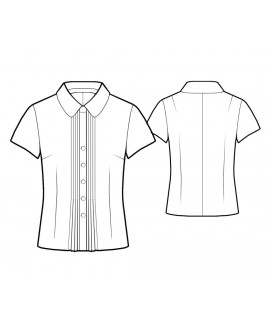 Custom-Fit Sewing Patterns - Fitted Blouse with Peter Pan Collar