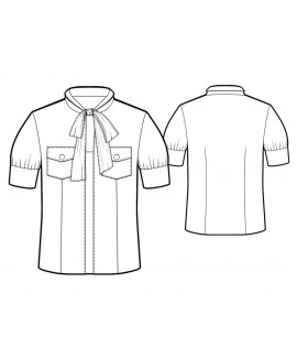 Custom-Fit Sewing Patterns - Camp Shirt with Tied Neck