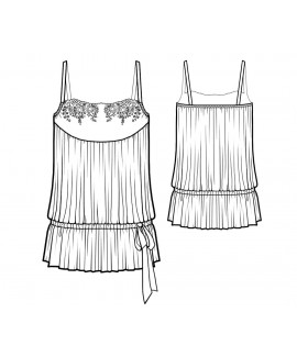 Custom-Fit Sewing Patterns - Blouson Style Lace Trimmed Camisole