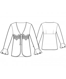 Custom-Fit Sewing Patterns - Empire Waist Robe