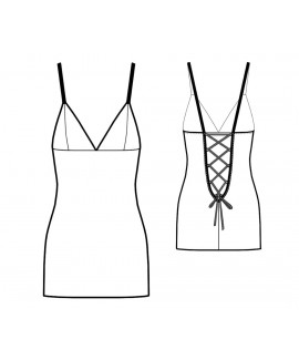 Custom-Fit Sewing Patterns - Lace-Up Back Slip