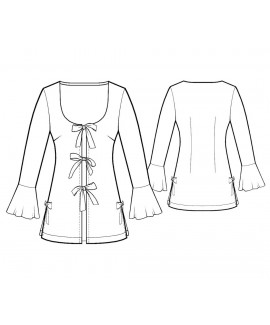 Custom-Fit Sewing Patterns - Bell Sleeves Robe