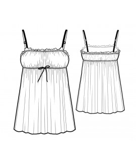 Custom-Fit Sewing Patterns - Ruched Front Chemise