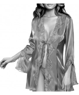 Custom-Fit Sewing Patterns - Lace Trimmed Robe