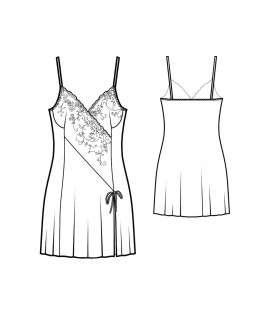 Custom-Fit Sewing Patterns - Contrast Inset Chemise