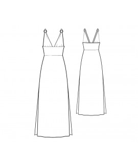 Custom-Fit Sewing Patterns - Side Slit Halter Nightgown