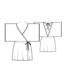 Custom-Fit Sewing Patterns - Short Kimono Robe