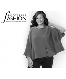 Custom-Fit Sewing Patterns - Batwing Knit Top