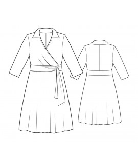 Custom-Fit Sewing Patterns - Wrap Dress With Shirt Collar