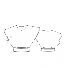 Custom-Fit Sewing Patterns - Belted Dolman Knit Top