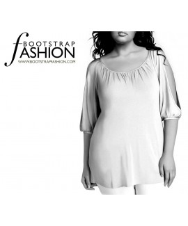 Custom-Fit Sewing Patterns - Trapeze Top With Split Sleeves
