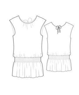 Custom-Fit Sewing Patterns - Blouson Style Top