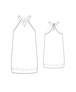 Custom-Fit Sewing Patterns - Halter Dress with Key-Hole Neckline