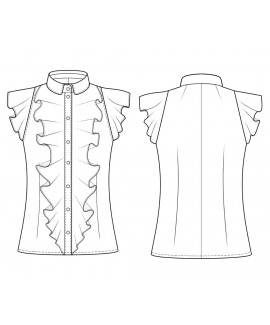 Custom-Fit Sewing Patterns - Ruffle Front Blouse