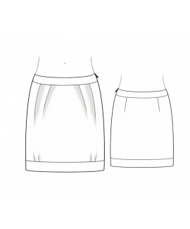 Custom-Fit Sewing Patterns - Pleated Skirt With A Band