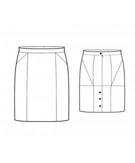 Custom-Fit Sewing Patterns - Button Up Back Pencil